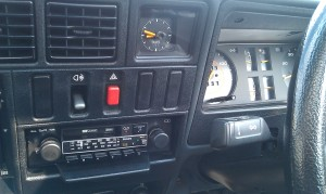 Mk1 interior boasts push button radio/cassette.
