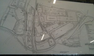 Map made in the eighties showing the huge Luton plant, including 'planned extension'.