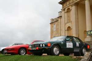In stately company at Kimbolton Fayre.